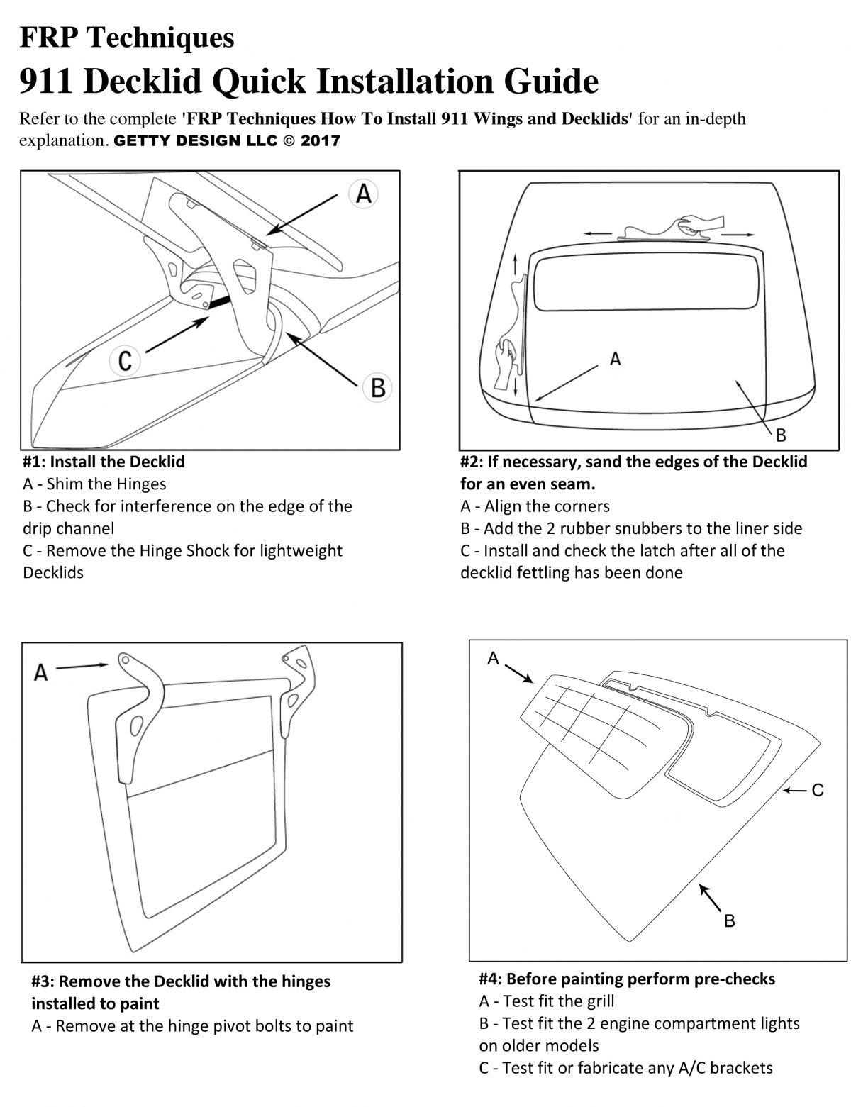 911 Decklid Quick Installation Guide